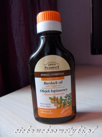 Green Pharmacy, Olejek łopianowy z olejem arganowym