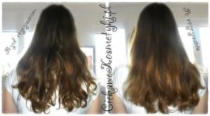 Włosy przed i po rozczesaniu szczotką Gorgol