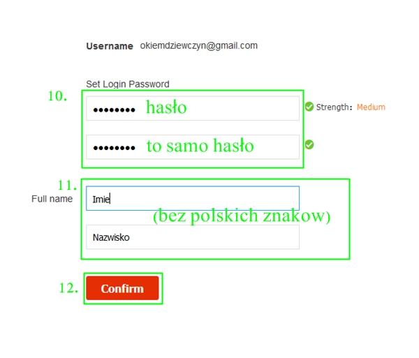 Tworzenie konta Aliexpress