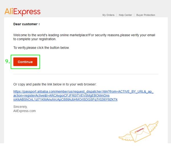 Aktywacja konta Aliexpress
