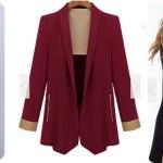 Płaszcz, blazer oraz wiązane body z Romwe