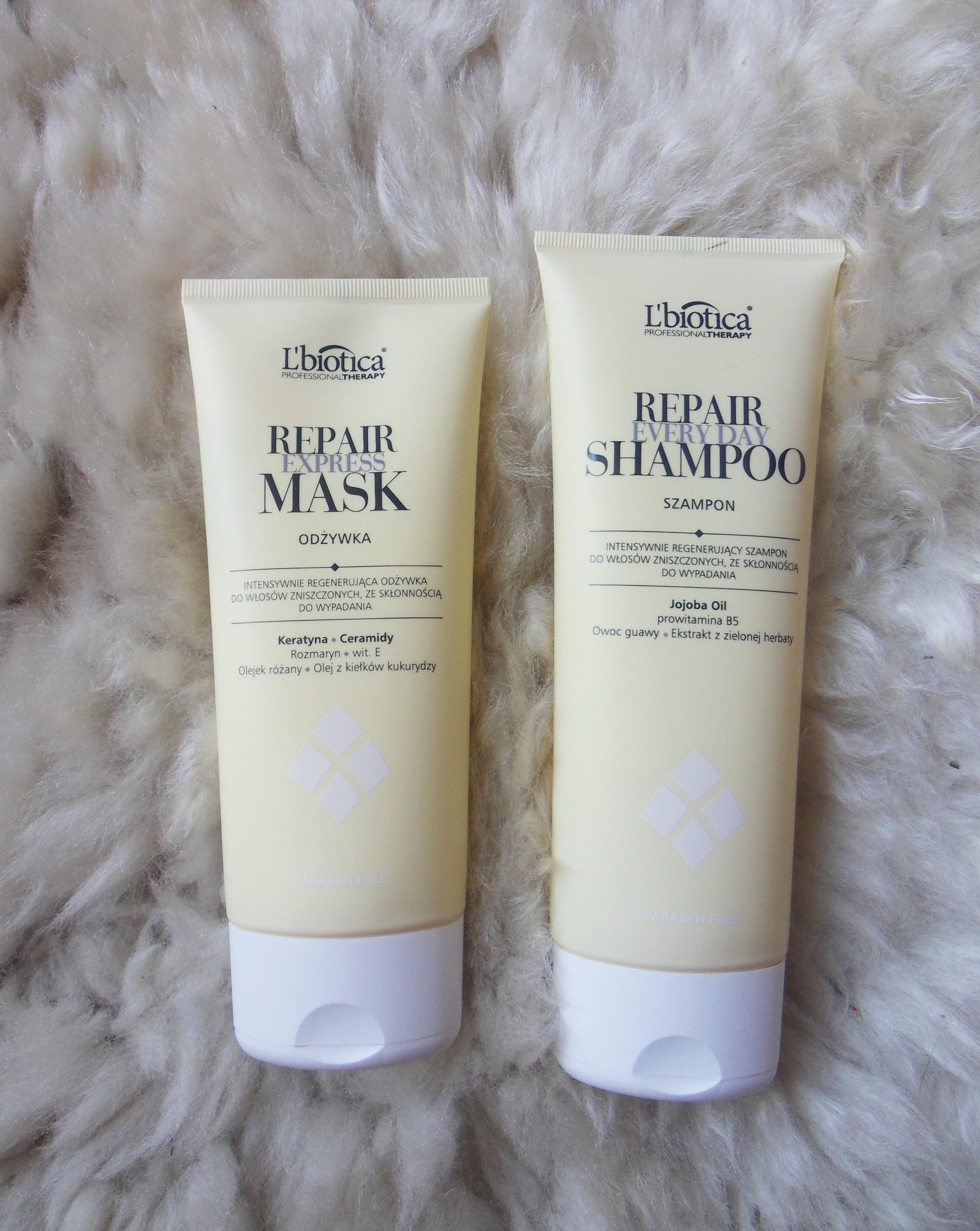 L'biotica Professional Therapy Repair- szampon i odżywka