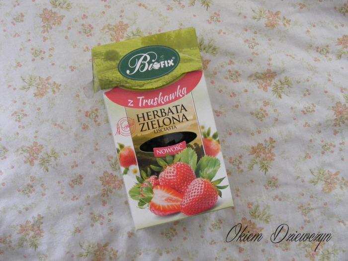 Zielona herbata z truskawką