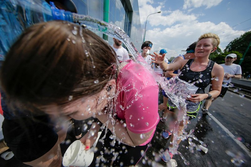 Participants compete during the Wings for Life World Run in Poznan, Poland on May 8, 2016. // Damian Kramski for Wings for Life World Run // Usage for editorial use only // Please go to www.redbullcontentpool.com for further information. //