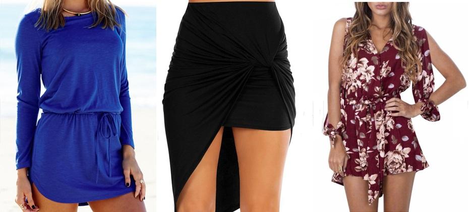 Spódnica, sukienka oraz kombinezon - Romwe