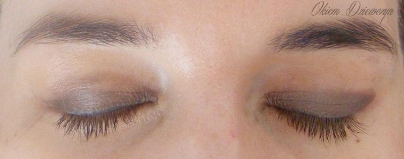 Oczy pomalowane cieniem w kredce Cosmepick kolor nr 2