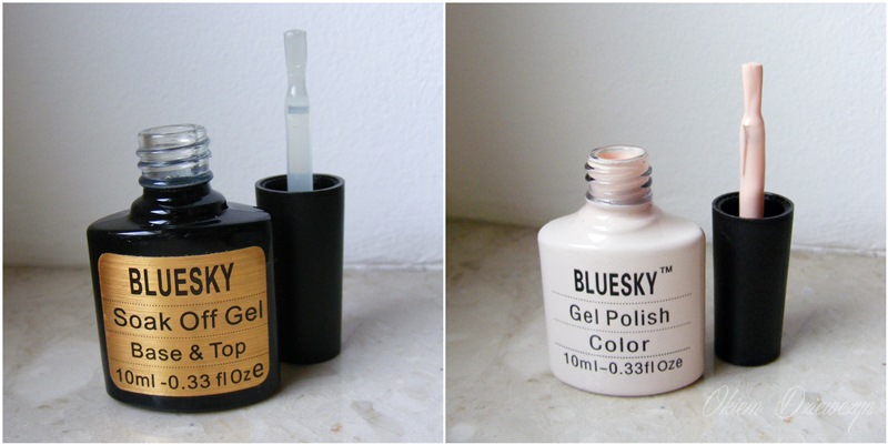 Baza i top 2 w 1 BlueSky i lakier do paznokci BlueSky 80608
