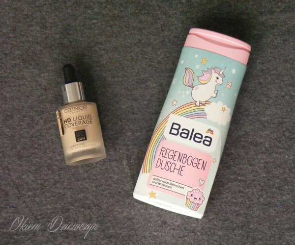 Catrice HD Liquid Coverage & Balea Regenbogen Dusche