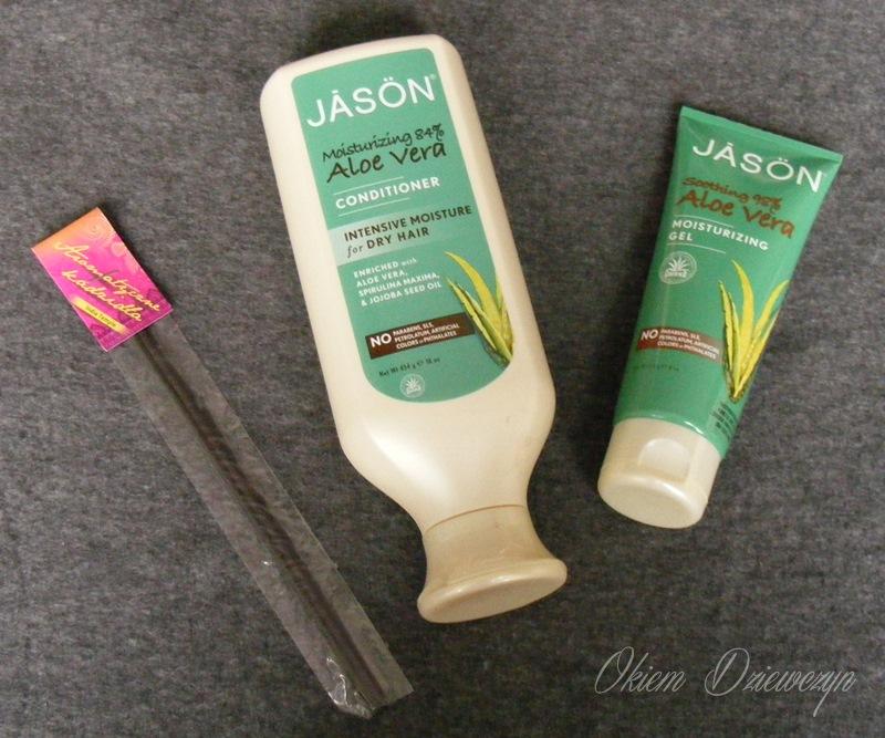 Kosmetyki Jason i kadzidełko Helfy