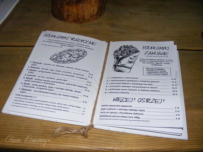 Szynkarnia menu