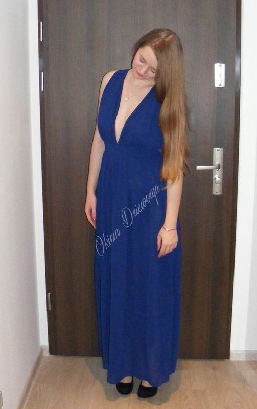 Niebieska sukienka SheIn
