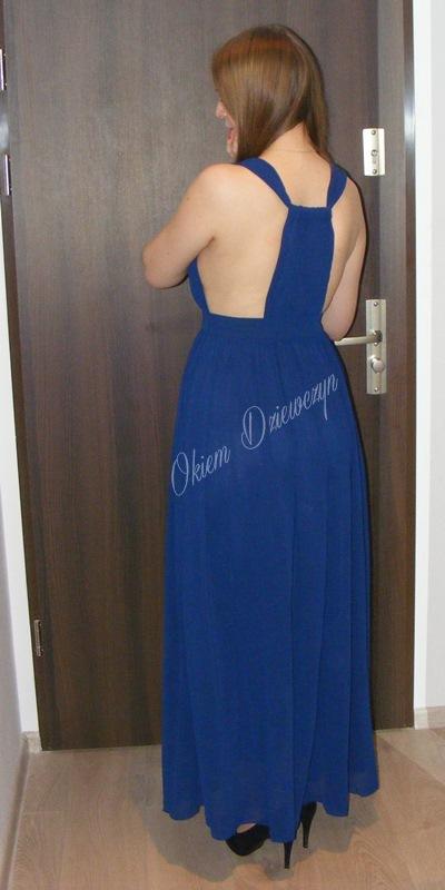 Niebieska maxi sukienka SheIn