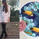 Sukienka w ważki i okrągły kocyk SheIn + inspiracje LilySilk