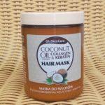 Maska do włosów z olejem kokosowym, kolagenem i keratyną od GlySkinCare