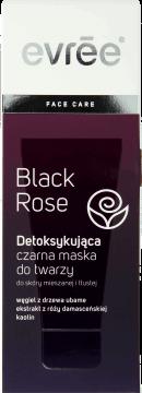 Evree, Black Rose, detoksykująca czarna maska do twarzy, skóra mieszana i tłusta