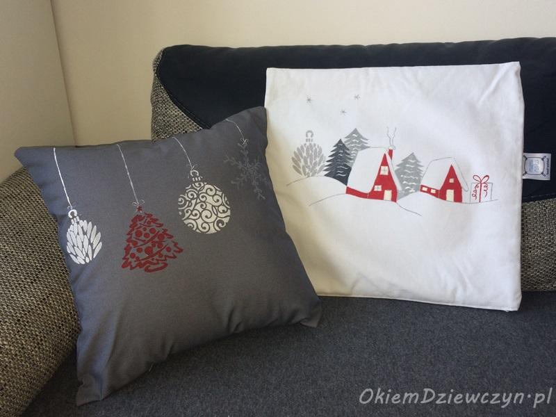 Zestaw świąteczny - poduszka + 2 powłoczki od MamiNoko.