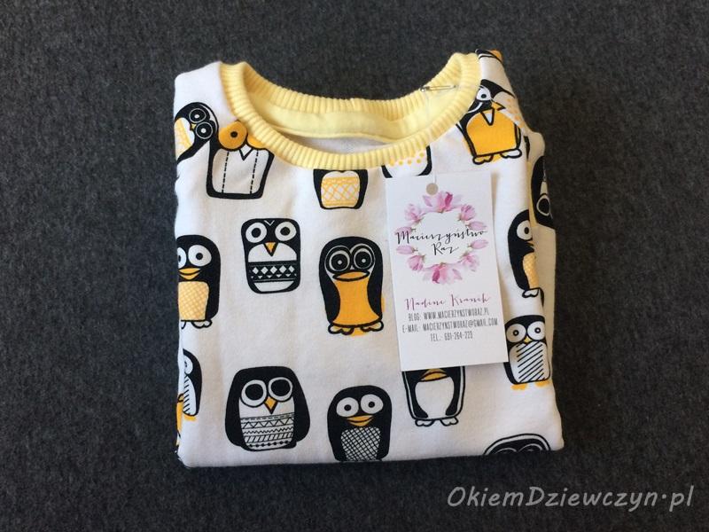 Bluza w pingwinki uszyta przez Nadine z Macierzyństwo Raz.