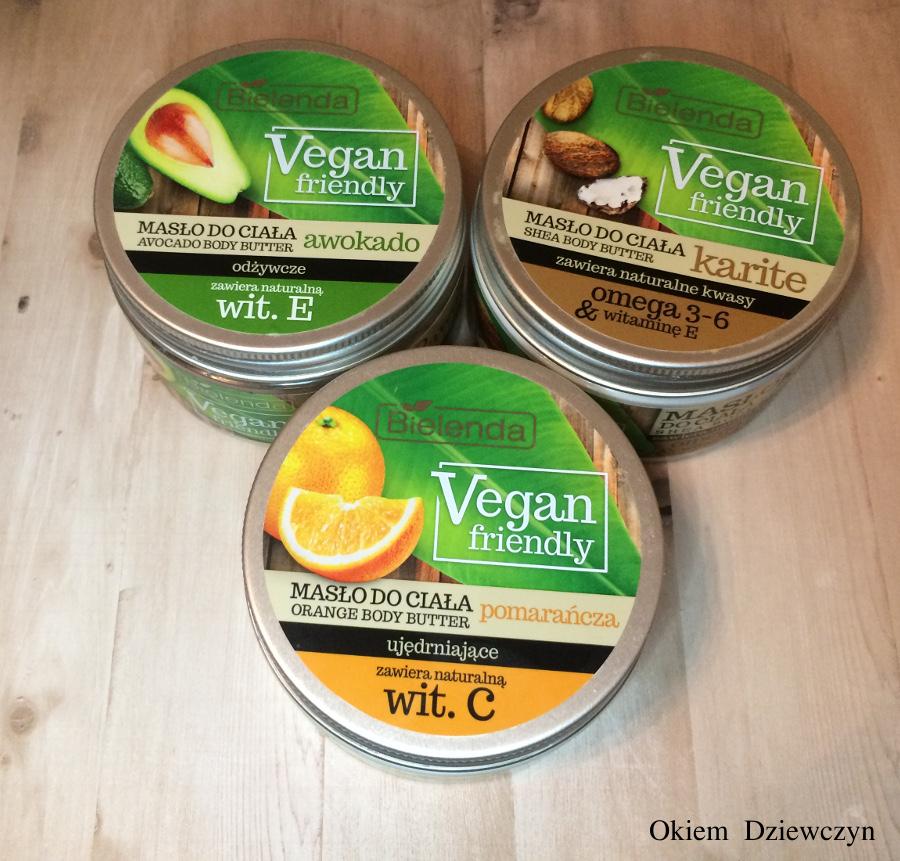 Masła do ciała Bielenda Vegan friendly.