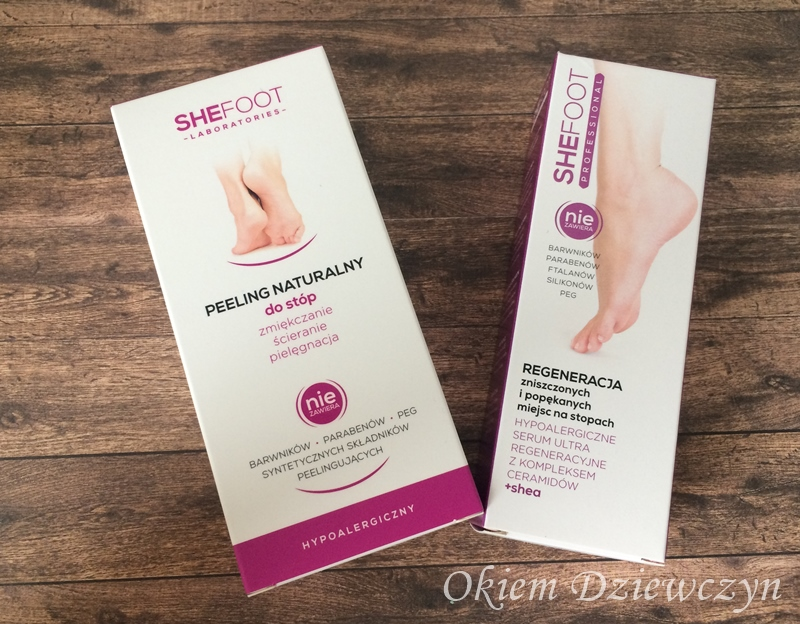 Peeling do stóp oraz serum SheFoot.