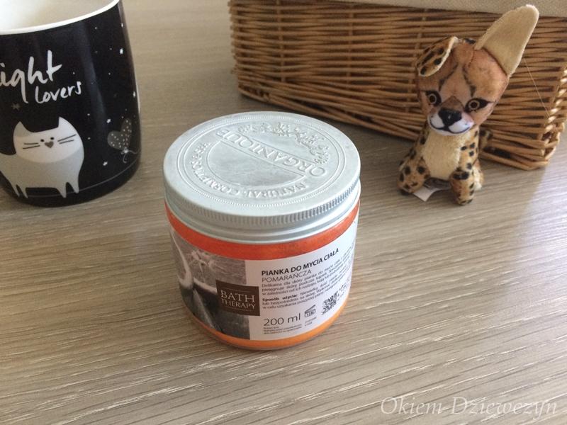 Organique pianka do mycia ciała Pomarańcza