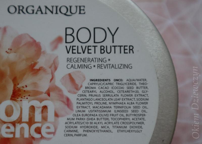Skład masła do ciała Organique Bloom Essence.