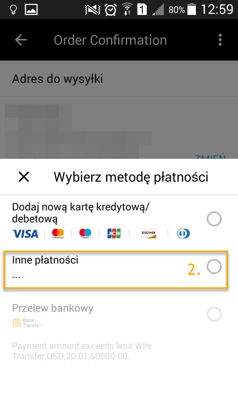 Android Inne płatności