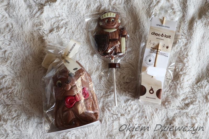 Słodka niespodzianka od Chocolissimo - kotek z czekolady, lizak rycerz oraz czekolada z przyprawami do picia