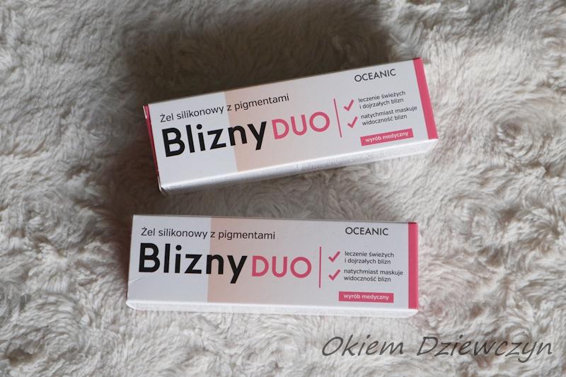 Żele silikonowe z pigmentami Blizny Duo od Oceanic.
