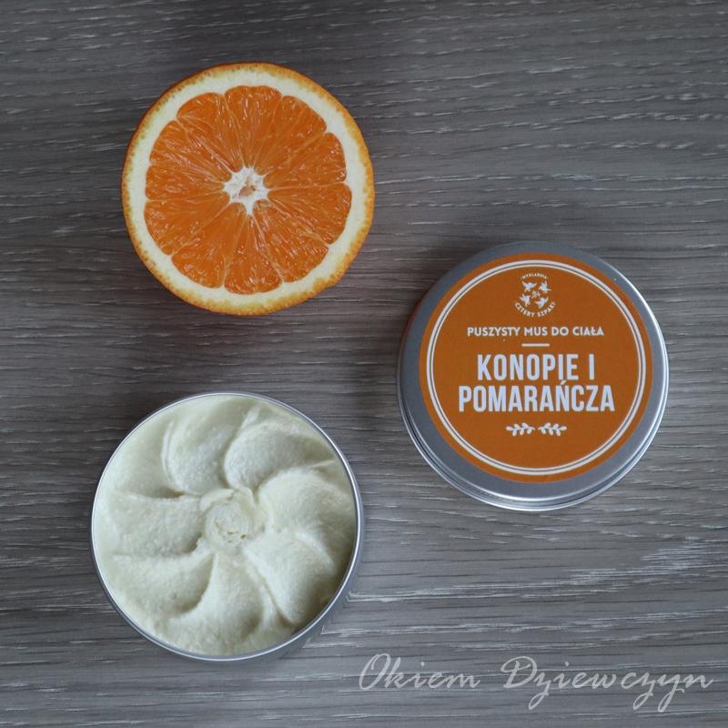 Mus do ciała Konopie i Pomarańcza Mydlarnia Cztery Szpaki.